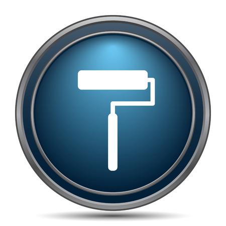 Roller icon. Internet button on white background.