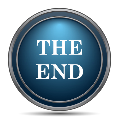 story time: The End icon. Internet button on white background. Stock Photo