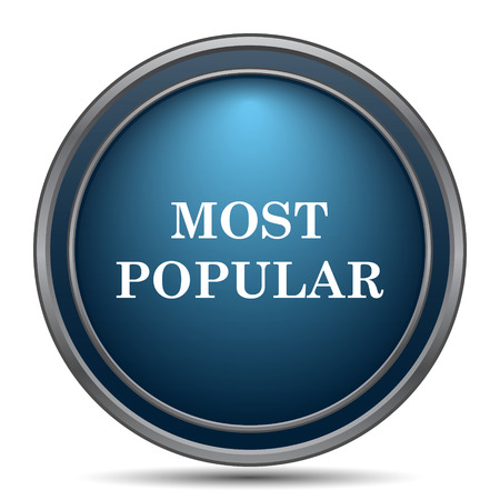 most popular: Most popular icon. Internet button on white background.