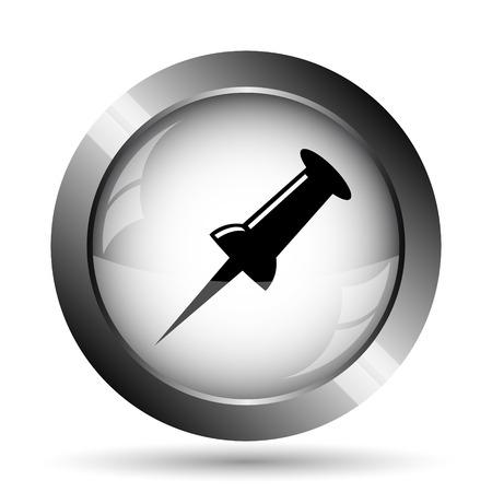 fixation: Pin icon. Pin website button on white background.