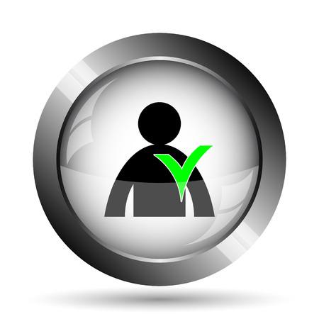 User online icon. User online website button on white background.