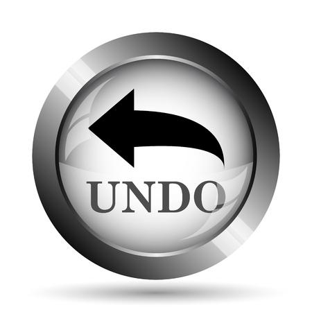 undo: Undo icon. Undo website button on white background. Stock Photo