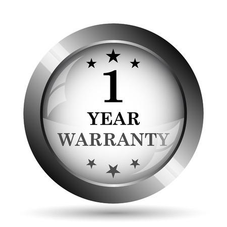 1 year: 1 year warranty icon. 1 year warranty website button on white background. Stock Photo