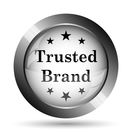 trusted: Trusted brand icon. Trusted brand website button on white background. Stock Photo