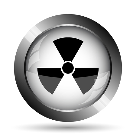 caution chemistry: Radiation icon. Radiation website button on white background.