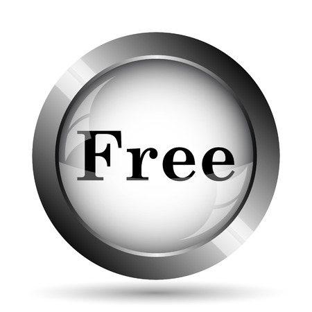 gratuity: Free icon. Free website button on white background. Stock Photo