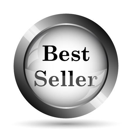 seller: Best seller icon. Best seller website button on white background.