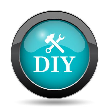 DIY icon. DIY website button on white background.
