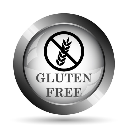 preservatives: Gluten free icon. Gluten free website button on white background.
