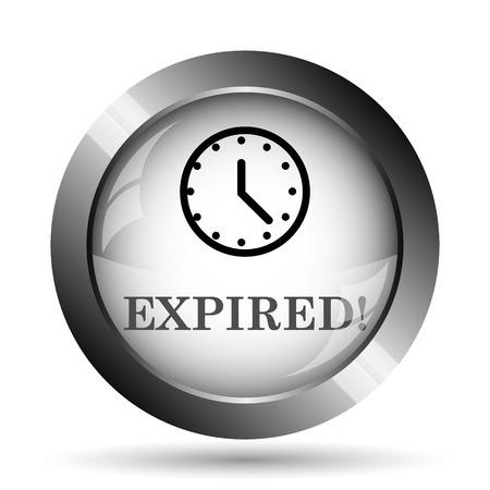 expired: Expired icon. Expired website button on white background.