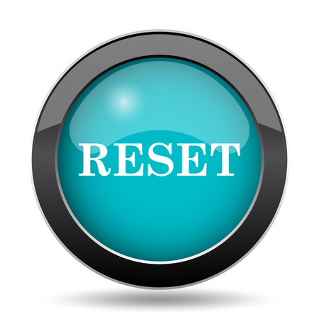 redesign: Reset icon. Reset website button on white background. Stock Photo