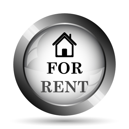 rent: For rent icon. For rent website button on white background.