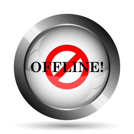 offline: Offline icon. Offline website button on white background. Stock Photo