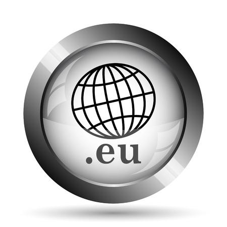 eu: .eu icon. .eu website button on white background. Stock Photo