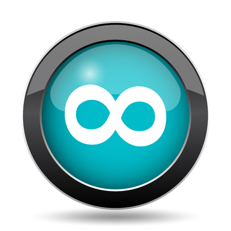 Infinity sign icon. Infinity sign website button on white background.