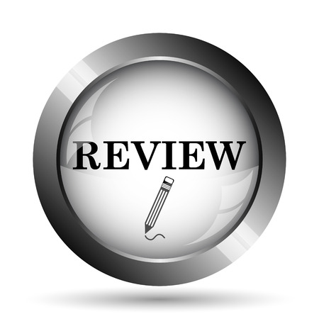 worthy: Review icon. Review website button on white background.