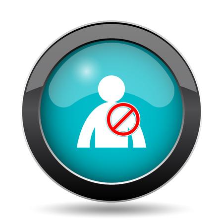 offline: User offline icon. User offline website button on white background.