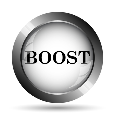 boost: Boost icon. Boost website button on white background. Stock Photo