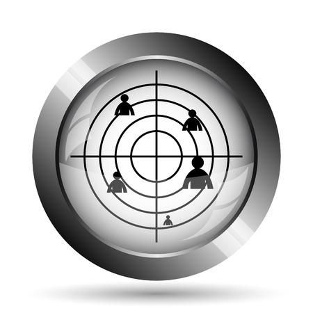 radar: Radar icon. Radar website button on white background.