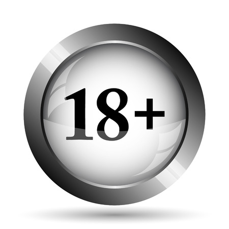 18 plus icon. 18 plus website button on white background. Stock Photo