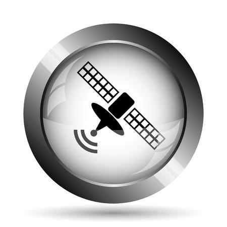 world receiver: Antenna icon. Antenna website button on white background.