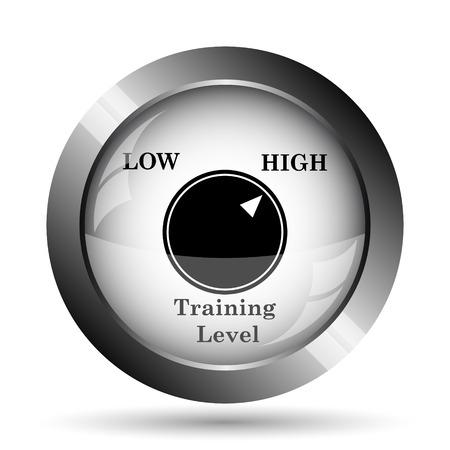 efficacy: Training level icon. Training level website button on white background.