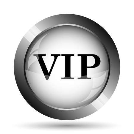 members only: VIP icon. VIP website button on white background. Stock Photo