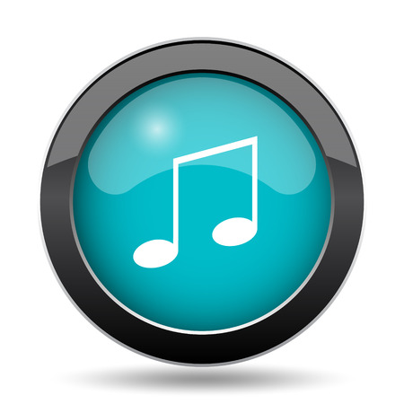 melodic: Music icon. Music website button on white background.