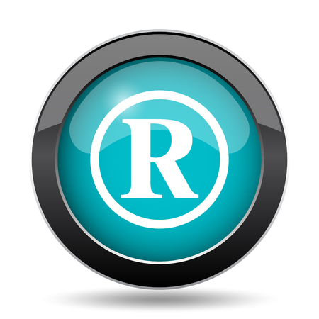 registered: Registered mark icon. Registered mark website button on white background.