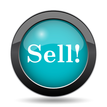 sell: Sell icon. Sell website button on white background.