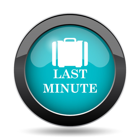 depart: Last minute icon. Last minute website button on white background.