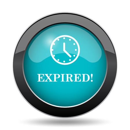 cancellation: Expired icon. Expired website button on white background.
