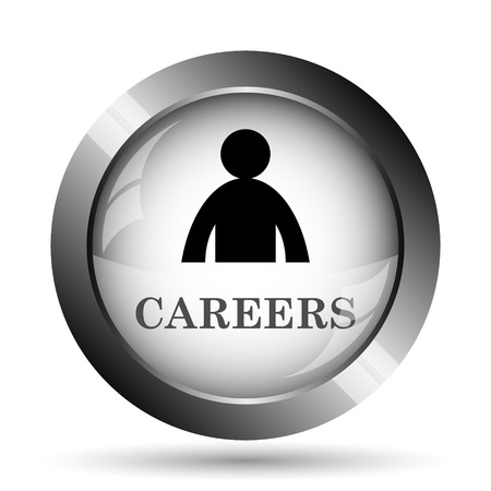 career entry: Careers icon. Careers website button on white background.