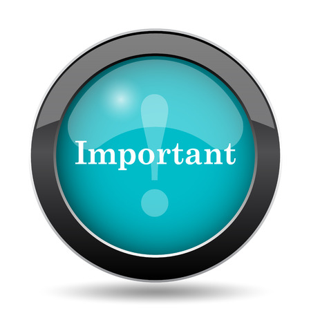 notable: Important icon. Important website button on white background. Stock Photo