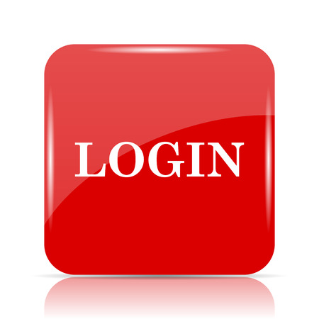 logging: Login icon. Login website button on white background.