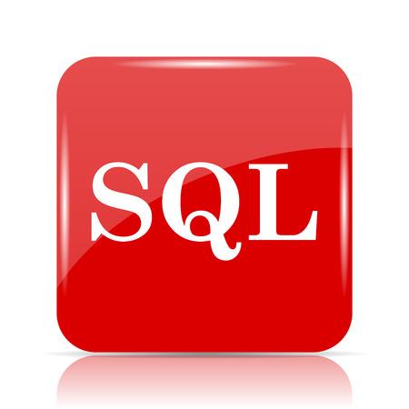 SQL icon. SQL website button on white background. Stock Photo