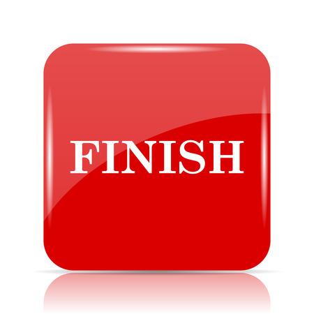 abort: Finish icon. Finish website button on white background.