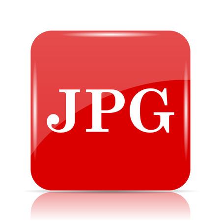 JPG icon. JPG website button on white background.
