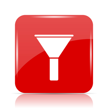 Filter icon. Filter website button on white background. Stock Photo