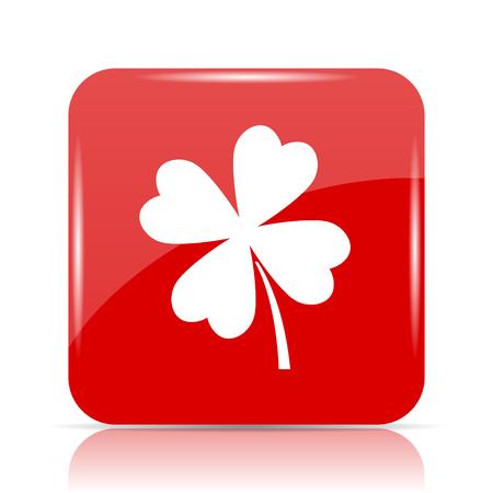 Clover icon. Clover website button on white background.