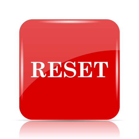 Reset icon. Reset website button on white background.