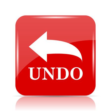 Undo icon. Undo website button on white background. Stock Photo