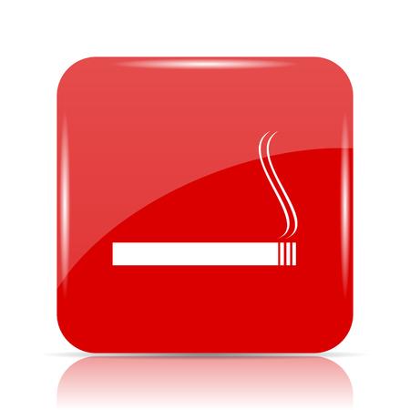 Cigarette icon. Cigarette website button on white background. Stock Photo