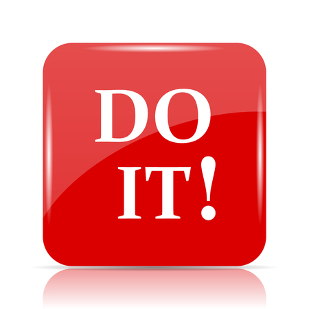 at it: Do it icon. Do it website button on white background. Stock Photo