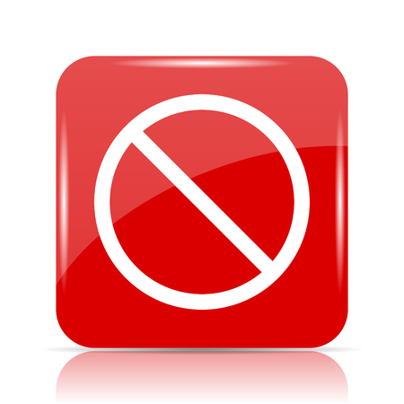 Forbidden icon. Forbidden website button on white background. Stock Photo