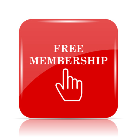 subscriber: Free membership icon. Free membership website button on white background. Stock Photo