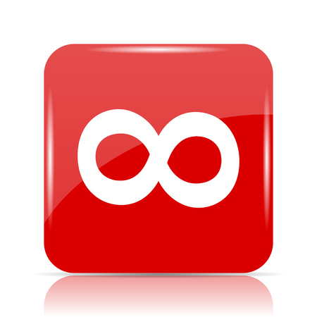 infinity sign: Infinity sign icon. Infinity sign website button on white background.