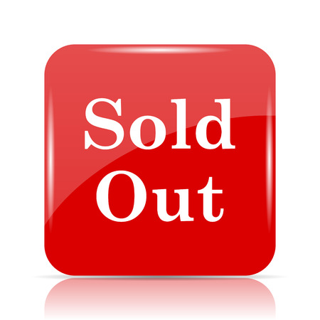Sold out icon. Sold out website button on white background. Stock Photo