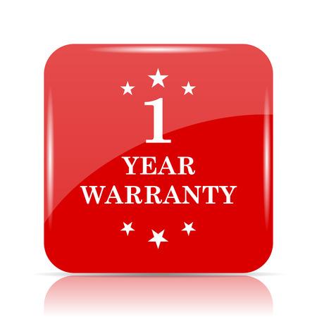 1 year warranty: 1 year warranty icon. 1 year warranty website button on white background. Stock Photo