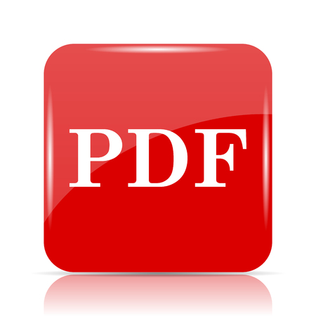PDF icon. PDF website button on white background. Stock Photo